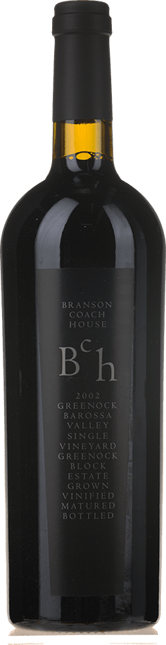 BRANSON COACH HOUSE Greenock Block Single Vineyard Shiraz, Barossa Valley 2002
