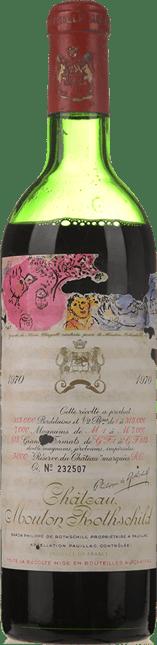 CHATEAU MOUTON-ROTHSCHILD 1er cru classe, Pauillac 1970