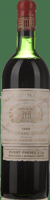 CHATEAU MARGAUX 1er cru classe, Margaux 1968