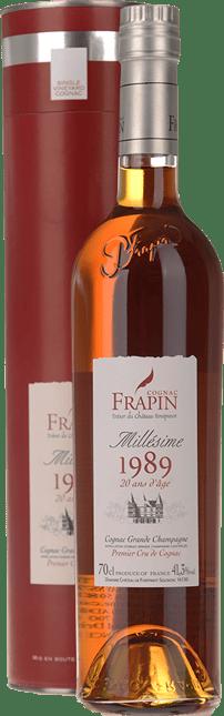 COGNAC FRAPIN 20 YO Grande Champagne Cognac 1989 41.3% ABV, Cognac 1989