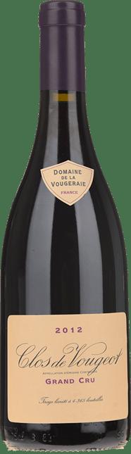 DOMAINE DE LA VOUGERAIE Grands Cru, Clos de Vougeot 2012