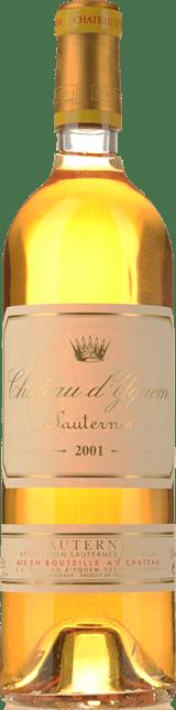 CHATEAU D'YQUEM 1er cru superieur, Sauternes 2001