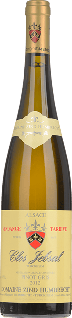 DOMAINE ZIND HUMBRECHT Clos Jebsal Vendange Tardive Pinot Gris, Turckheim 2012