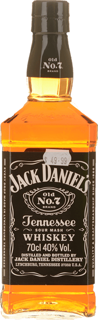 JACK DANIEL'S Old No.7 Tennessee Whiskey 40% ABV, Tennessee NV