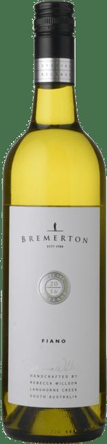 BREMERTON WINES Special Release Fiano, Langhorne Creek 2016