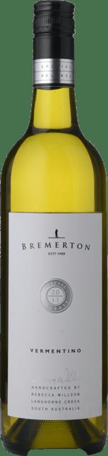 BREMERTON WINES Special Release Vermentino, Langhorne Creek 2015