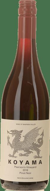 KOYAMA Pearson's Vineyard Pinot Noir, Waipara 2016