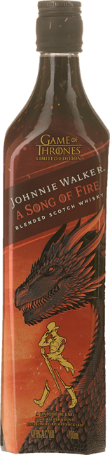 JOHNNIE WALKER GOT A Song of Fire Blended Scotch Whisky 40.8% ABV, Scotland NV