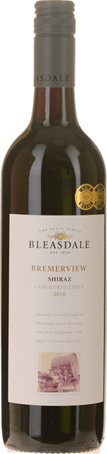 BLEASDALE VINEYARD Bremerview Shiraz, Langhorne Creek 2016