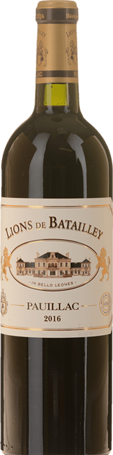 LES LIONS DE BATAILLEY second wine of Chateau Batailley, Pauillac 2016