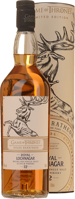 ROYAL LOCHNAGER Game of Thrones House Baratheon 12 YO Single Malt Scotch Whiskey 40% ABV, The Highlands NV