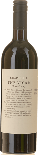 CHAPEL HILL The Vicar Shiraz, McLaren Vale 2017