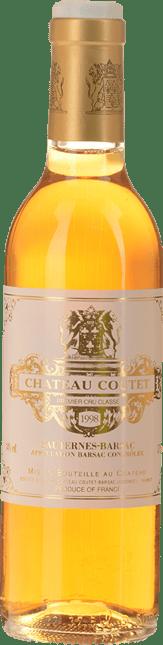 CHATEAU COUTET 1er cru classe, Sauternes-Barsac 1998