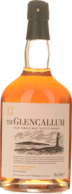 THE GLENCALLUM 12 Years Old 46% ABV, Islay NV