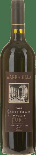 WARRABILLA Parola's Limited Release Durif, Rutherglen 2006