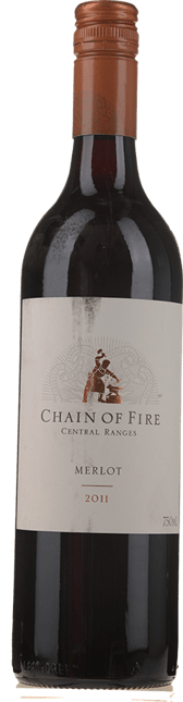 OATLEY WINES Chain of Fire Merlot, Central Ranges 2011