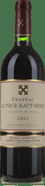 CHATEAU LA TOUR HAUT-BRION Rouge Cru classe, Graves 2003