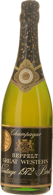 SEPPELT Great Western Sparkling Brut, South Western Victoria 1972