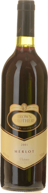 BROWN BROTHERS Merlot, Victoria 2001