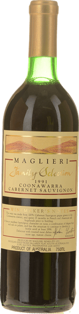 MAGLIERI Family Selection Cabernet, Coonawarra 1991