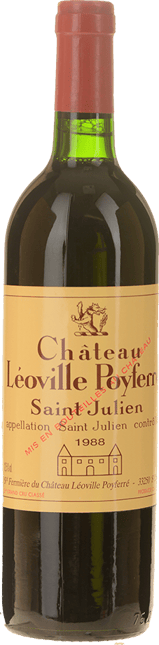 CHATEAU LEOVILLE-POYFERRE 2me cru classe, St-Julien 1988