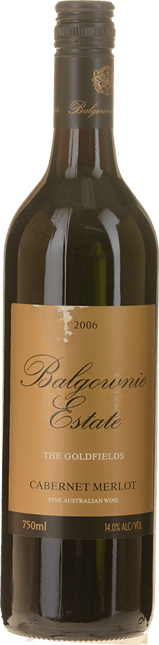 BALGOWNIE ESTATE The Goldfields Cabernet Merlot, Bendigo 2006