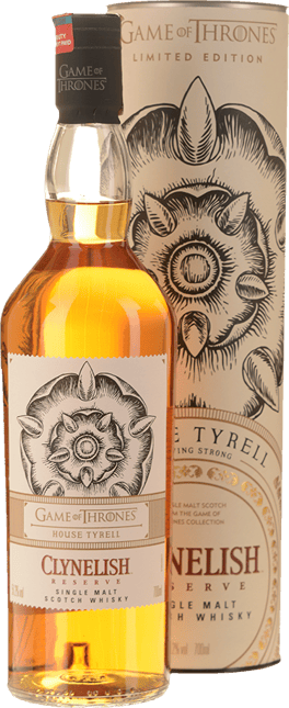 CLYNELISH Game of Thrones House Tyrell Reserve Single Malt 51.2% ABV, Scotland NV