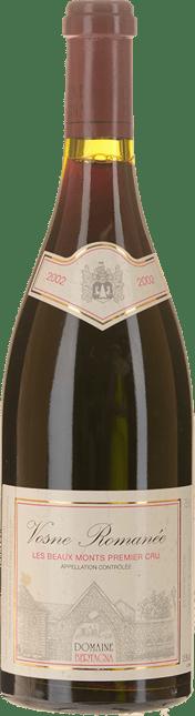 DOMAINE BERTAGNA Les Beaux Monts 1er cru, Vosne-Romanee 2002