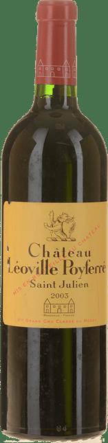 CHATEAU LEOVILLE-POYFERRE 2me cru classe, St-Julien 2003