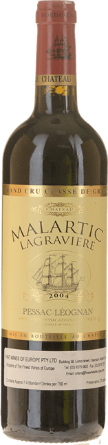 CHATEAU MALARTIC-LAGRAVIERE Rouge Cru classe, Graves 2004