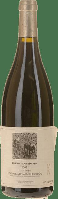 MISCHIEF & MAYHEM Grand Cru Pinot Noir, Corton-Renardes 2003