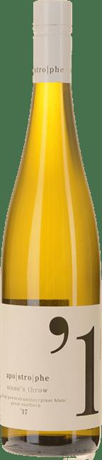 LARRY CHERUBINO WINES Apostrophe Stone's Throw Gewurztraminer Pinot Blanc Riesling, Great Southern 2017