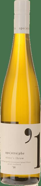 LARRY CHERUBINO WINES Apostrophe Stone's Throw Gewurztraminer Pinot Blanc Riesling, Great Southern 2018