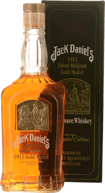JACK DANIEL'S 1913 Ghent Belgium Gold Medal Tennessee Whiskey 45% ABV, Tennessee NV
