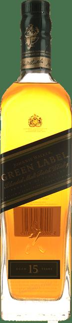 JOHNNIE WALKER Green Label 15 Years Old Pure Malt Whisky 43% ABV, Scotland NV