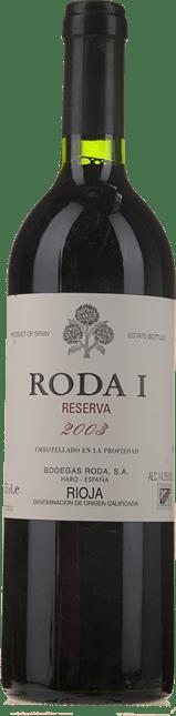BODEGAS RODA Roda 1 Reserva, Rioja 2003