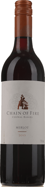 OATLEY WINES Chain of Fire Merlot, Central Ranges 2013