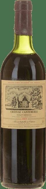 CHATEAU CANTEMERLE 5me cru classe, Haut-Medoc 1983