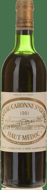 CHATEAU CARONNE-SAINTE-GEMME Cru bourgeois, Haut-Medoc 1981