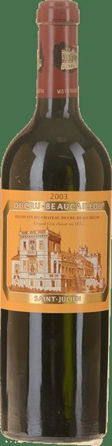 LA CROIX DE BEAUCAILLOU Second wine of Chateau Ducru-Beaucaillou, St-Julien 2003