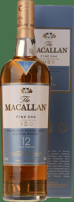 MACALLAN 12 Years Old Triple Cask Matured 40% ABV, Single Malt Whisky NV