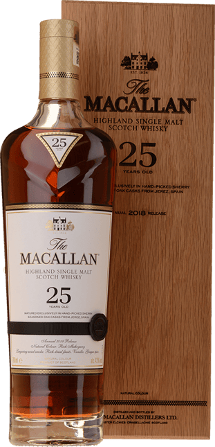 MACALLAN The Macallan 25 Years Old Sherry Oak Casks 43% ABV, The Highlands NV