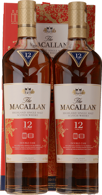 MACALLAN Double Cask 12 Year Old 2 Bottles Set 40% ABV, Highland NV