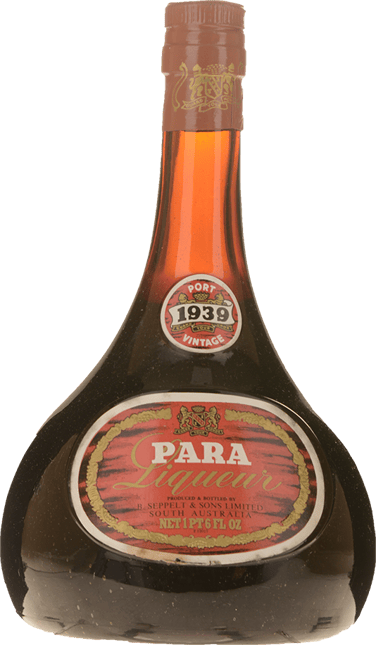 SEPPELT Para Liqueur Port, Barossa Valley 1939