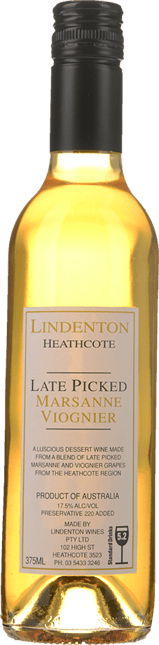 LINDENTON WINES Late Picked Marsanne Viognier, Heathcote NV