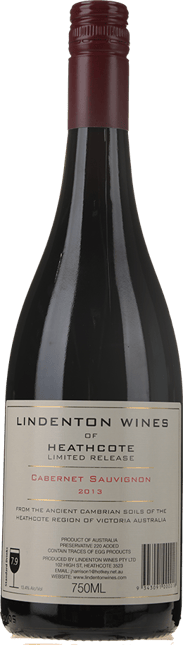 LINDENTON WINES Limited Release Cabernet, Heathcote 2013