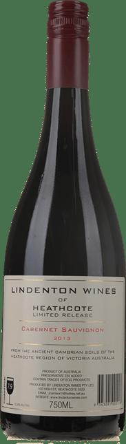 LINDENTON WINES Limited Release Cabernet, Heathcote 2013