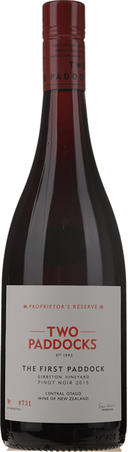 TWO PADDOCKS Proprietor's Reserve First Paddock Pinot Noir, Central Otago 2015