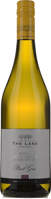 THE LANE VINEYARD Block 2 Pinot Gris, Adelaide Hills 2015