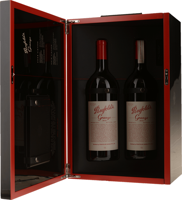 PENFOLDS Bin 95 Grange Shiraz, Two Magnum Set 2008 & 2010, South Australia NV